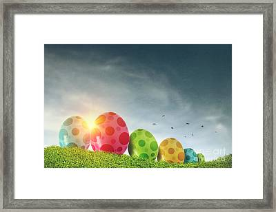 Easter Eggs Framed Print by Carlos Caetano