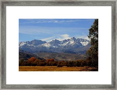 Eastern Sierras Framed Print by Lynn Bawden
