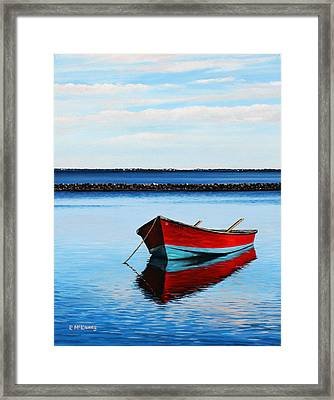 Eastpoint Red Framed Print by Rick McKinney