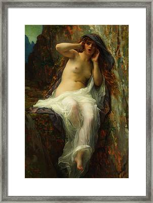 Framed Print featuring the painting Echo by Alexandre Cabanel