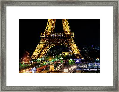 Eiffel Tower Framed Print by Andrew Soundarajan