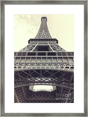 Eiffel Tower By The Seine Framed Print