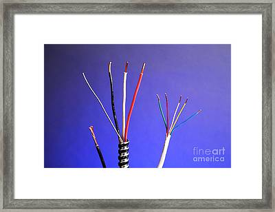 Electrical Cable Framed Print by Photo Researchers, Inc.