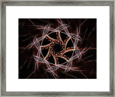 Elementary Particles Series. Interplay Of Abstract Fractal Forms On The Subject Of Nuclear Physics Science And Graphic Design. Framed Print by Roman Sliva