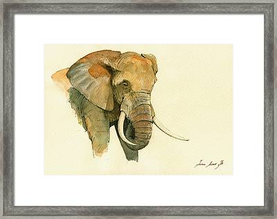 Elephant Painting           Framed Print
