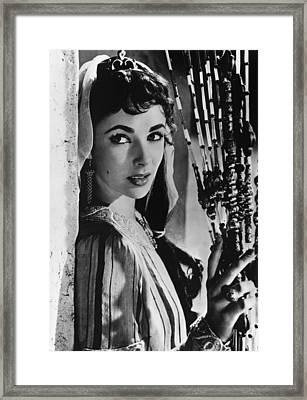Elizabeth Taylor Framed Print by American School