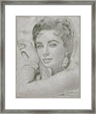 Elizabeth Taylor Hollywood Actress Framed Print by Frank Falcon