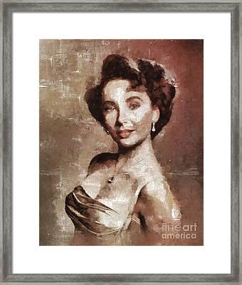 Elizabeth Taylor Hollywood Actress Framed Print by Mary Bassett