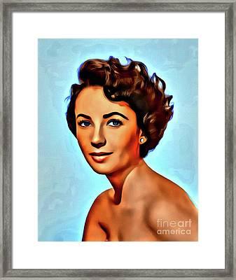 Elizabeth Taylor, Vintage Hollywood Legend Framed Print
