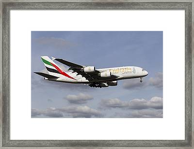 Emirates A380 Airbus Framed Print