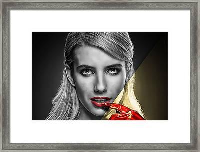 Emma Roberts Collection Framed Print