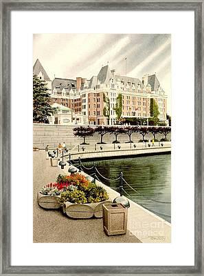 Empress Hotel Framed Print