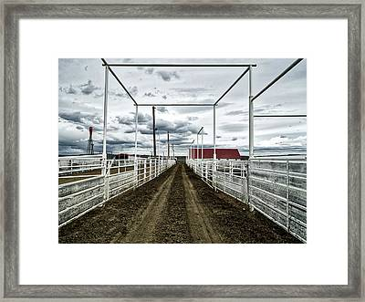 Empty Corrals Framed Print by L O C