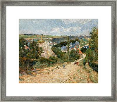 Entrance To The Village Of Osny Framed Print
