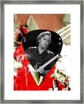 Eric Clapton Art Framed Print