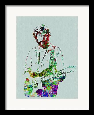 Eric Clapton Portrait Framed Prints