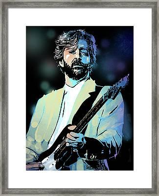 Eric Clapton Framed Print by Paul Sachtleben
