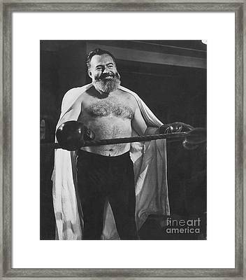 Ernest Hemingway Framed Print by Granger