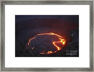 Erta Ale Lava Lake, Danakil Depression Framed Print by Martin Rietze