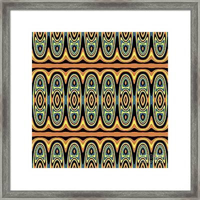 Ethnic Geometric Pattern Framed Print
