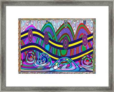 Ethnic Wedding Decorations Abstract Usring Fabrics Ribbons Graphic Elements Framed Print