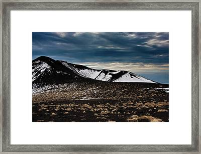 Framed Print featuring the photograph Etna, Red Mount Crater by Bruno Spagnolo
