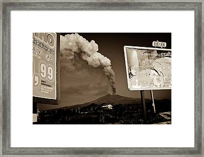 Framed Print featuring the photograph Etna, The Volcano by Bruno Spagnolo