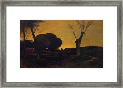 Evening At Medfield, Massachusetts Framed Print