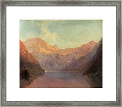 Evening Sun Over The Konigsse Framed Print