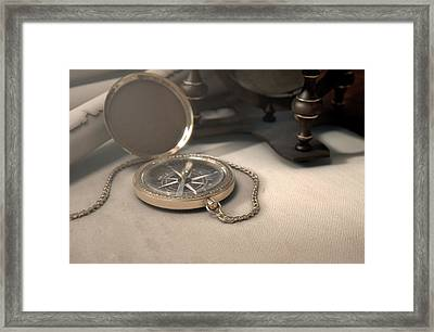 Exploration Table Framed Print by Allan Swart