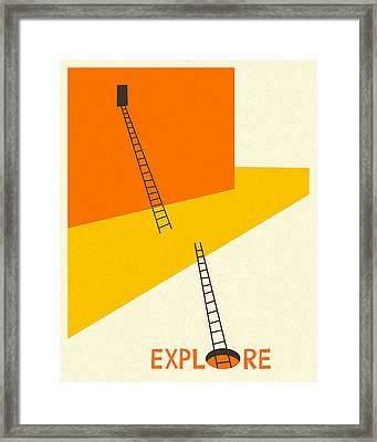 Explore Framed Print by Jazzberry Blue