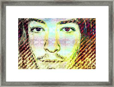 Ezra Miller Framed Print by Svelby Art