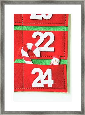 Fabric Advent Calendar Framed Print