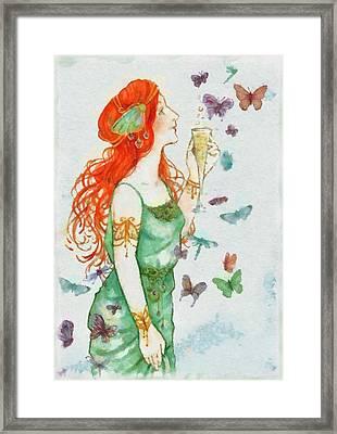Fairy Framed Print by Sarah Kirk