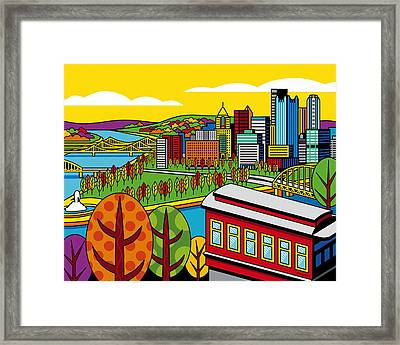 Fall From Above Framed Print by Ron Magnes