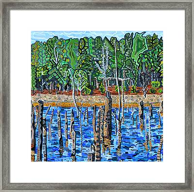 Falls Lake At Six Forks Road Framed Print