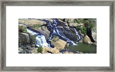 Falls Park Framed Print by Gina Lee Manley