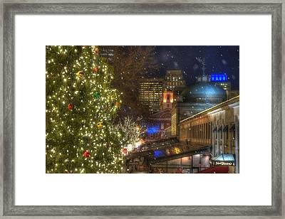 Faneuil Hall Christmas Framed Print by Joann Vitali