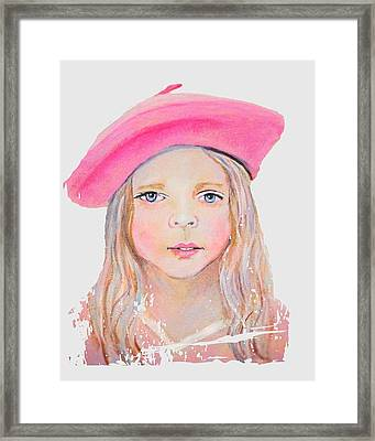 Fayanna Little French Angel Of Trust Framed Print by The Art With A Heart By Charlotte Phillips