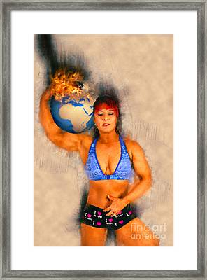 Female Atlas Framed Print by Ilan Rosen