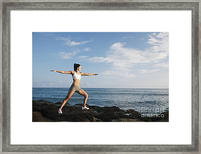 Female Doing Yoga Framed Print by Brandon Tabiolo - Printscapes