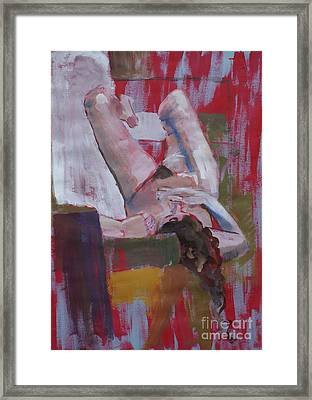 Female Model Framed Print