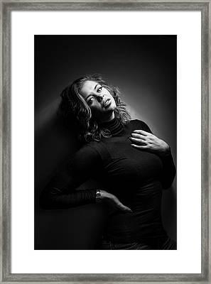 Female Model Framed Print by Samuel Whitton