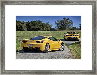 Framed Print featuring the photograph #ferrari #458italia #print by ItzKirb Photography