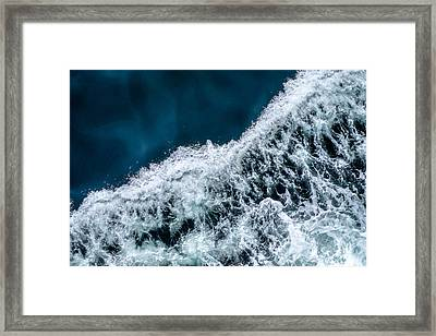 Ferry Waves Framed Print