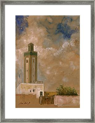 Fes Morocco Orientalist Painting Framed Print by Juan  Bosco