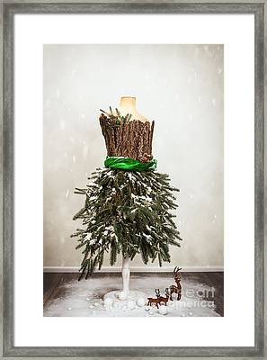 Festive Christmas Mannequin Framed Print