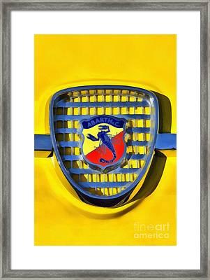 Fiat Abarth Badge Framed Print