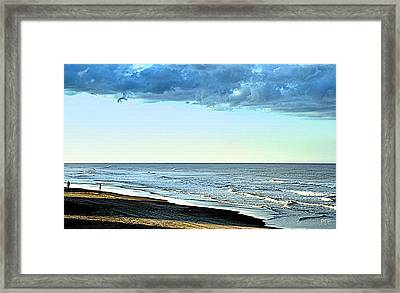 2 Figures On Shadowy Shore Framed Print