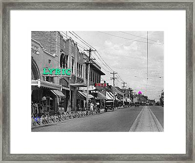 Film Homage Director Allan Dwan Soldiers Of Fortune 1919 Lyric Theater Tucson Arizona 1919-2008 Framed Print by David Lee Guss